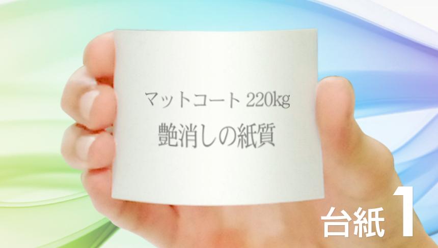 名刺の印刷をマットコート紙:220kg(厚口)でデザインして、名刺を作成