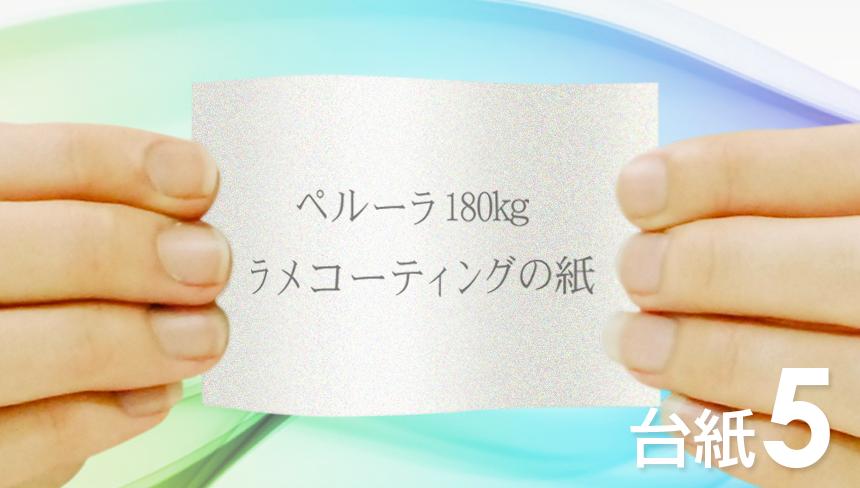 名刺の印刷をペルーラ:180kg(特殊紙)でデザインして、名刺を作成