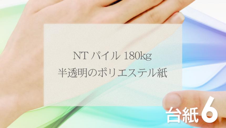 名刺の印刷をNTパイル:180kg(特殊紙)でデザインして、名刺を作成